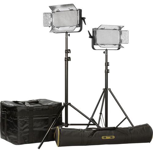 ikan ID500 LED Plus 2-Light Kit with Yokes & AB Battery Plates