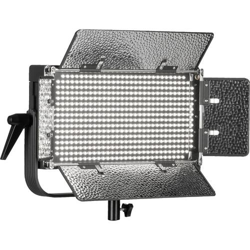 ikan ID500-PLUS Daylight LED Light, Yoke, Gold Mount Battery Plate