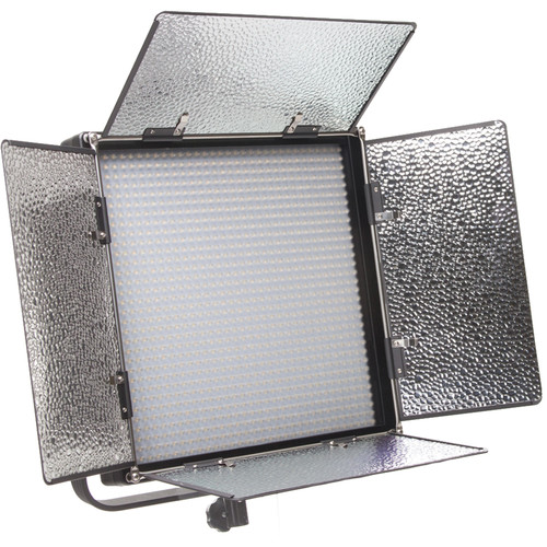 ikan IFB1024 Featherweight Bi-Color LED Light with Anton Bauer and Sony V-Mount Battery Plates