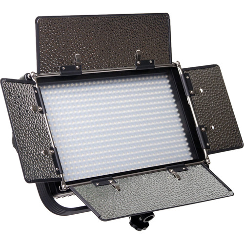 ikan IFB576 Featherweight Bi-Color LED Light with Anton Bauer and Sony V-Mount Battery Plates