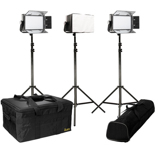 ikan IFB576 Featherweight Bi-Color 3-Point LED Light Kit with Softboxes
