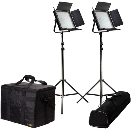 ikan IFD1024-SP-2PT-KIT Daylight Balanced Featherweight Spot Light Kit with Stands (2)