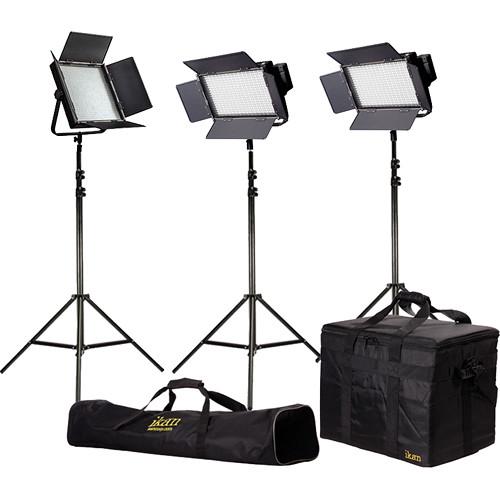 ikan Featherweight LED 1x IFD1024 & 2x IFD576 Light Kit