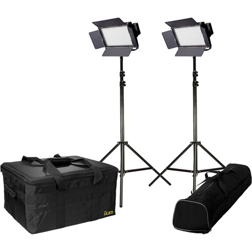 ikan IFD576 Featherweight LED 2-Light Kit with AB & V-Mount Plates