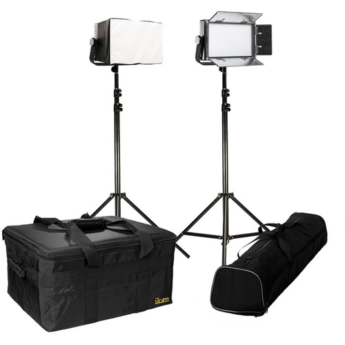 ikan IFD576 Featherweight Daylight 2-Point LED Light Kit with Softboxes