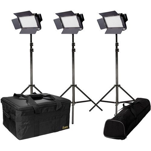 ikan IFD576-SP-KIT Daylight Balanced Featherweight Spot Light Kit with Stands (3)