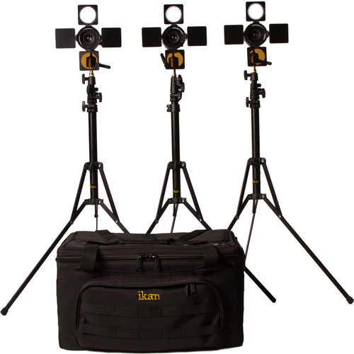 ikan iLED6-KIT iLED6 3 x Zoom ENG LED On-Camera Light Kit with Stands and Bag