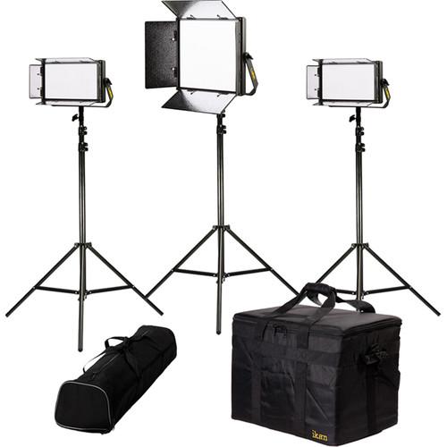 ikan Lyra Bi-Color 3-Point LED Soft Panel Light Kit with 1x LB10 and 2x LB5