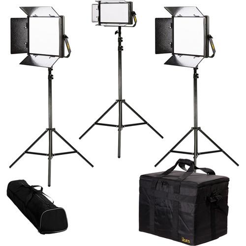ikan Lyra Bi-Color 3-Point LED Soft Panel Light Kit with 2 x LB10 and 1 x LB5