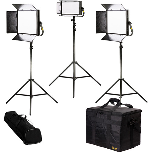ikan Lyra Bi-Color 3-Point LED Soft Panel Light Kit with 2 x LB10 and 1 x LB5