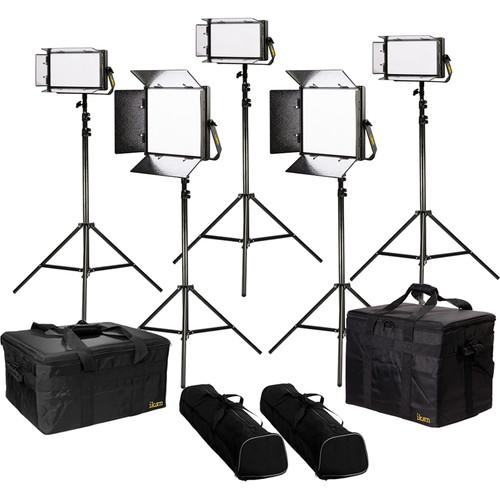 ikan Lyra Bi-Color 5-Point LED Soft Panel Light Kit with 2 x LB10 and 3 x LB5