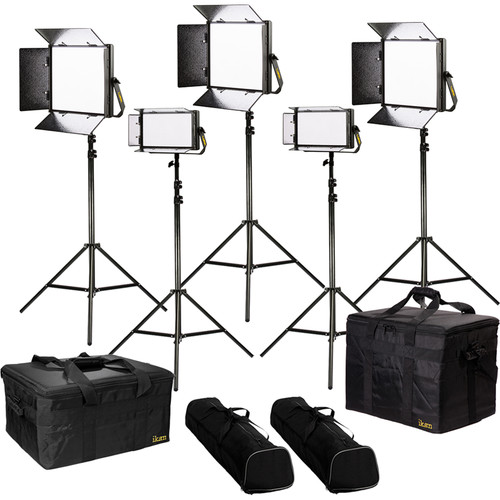 ikan Lyra Bi-Color 5-Point LED Soft Panel Light Kit with 3 x LB10 and 2 x LB5