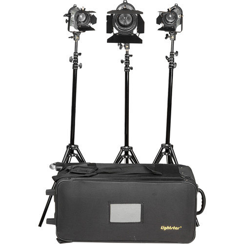 ikan Lightstar 3-Point Tungsten Fresnel Light Kit with One 300W and Two 150W