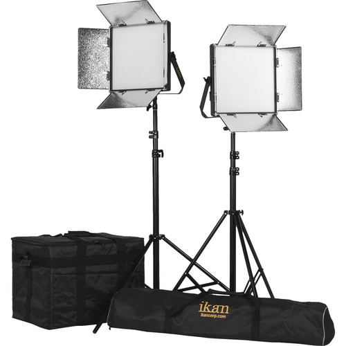 ikan Lyra 1 x 1 Daylight 2-Point Soft Panel LED Light Kit