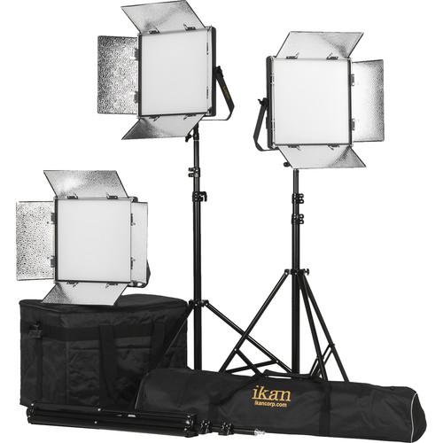ikan Lyra 1 x 1 Daylight 3-Point Soft Panel LED Light Kit