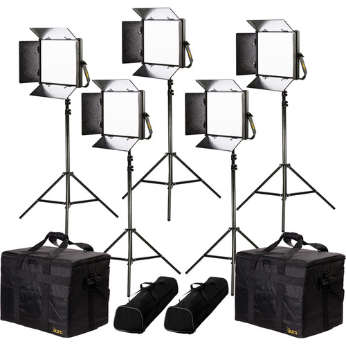 ikan Lyra Daylight 5-Point LED Soft Panel Light Kit with 5x LW10