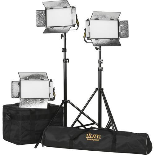 ikan Lyra Half x 1 Daylight 3-Point Soft Panel LED Light Kit