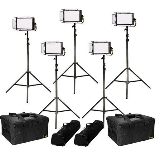 ikan Lyra Daylight 5-Point LED Soft Panel Light Kit with 5x LW5