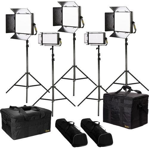 ikan Lyra Daylight 5-Point LED Soft Panel Light Kit with 3 x LW10 and 2 x LW5
