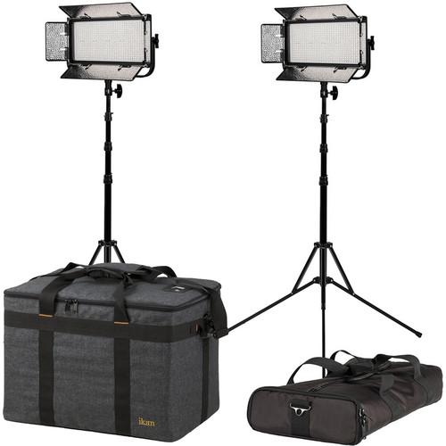 ikan Mylo Bi-Color Half x 1 Portable Field LED 2-Light Kit