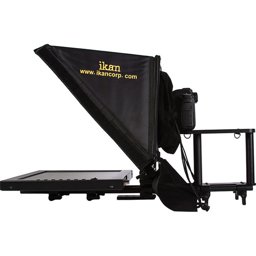 """ikan 15"""" Teleprompter and SDI to HDMI Converter with Pneumatic Pedestal System for Cameras Weighing up to 18 Pounds"""