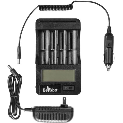 ikan Beholder 4-Cell Quick Charger for Lithium 18650/266500 Batteries