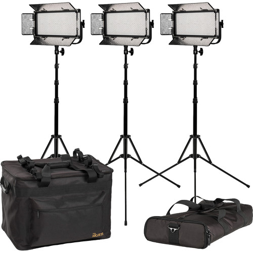 ikan Mylo MW8 Half x 1 Daylight LED 3-Point Light Kit