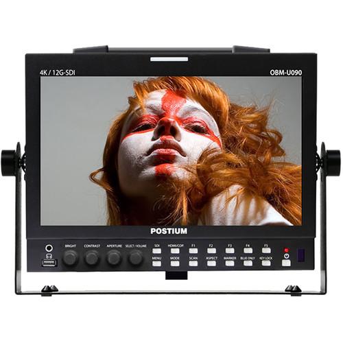 "ikan OBM-U090 9"" 4K HDR LCD Monitor with 12G-SDI Single-Link & Quad-Link 4K"