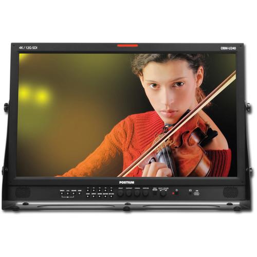 "Postium Korea OBM-U240 24"" Native UHD 4K 12G-SDI LCD Monitor with DCI 4K Support"