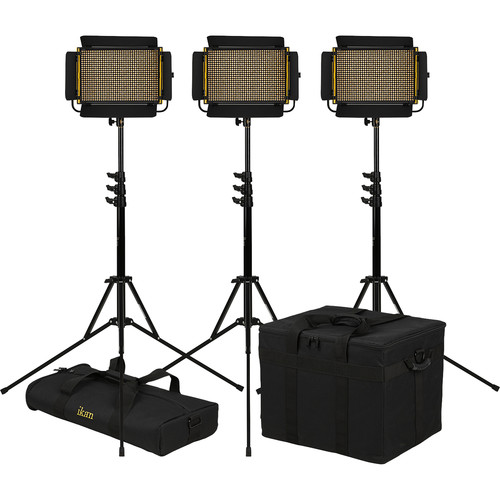 ikan Onyx Half x 1 Bi-Color LED 3-Point LED Light Kit