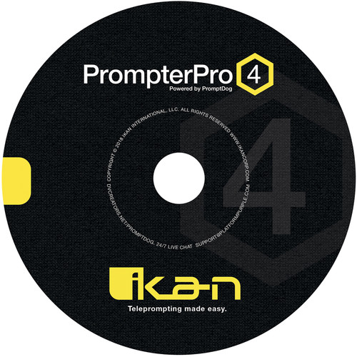 ikan PrompterPro 4 Teleprompting Software for PC and Mac (Disc)