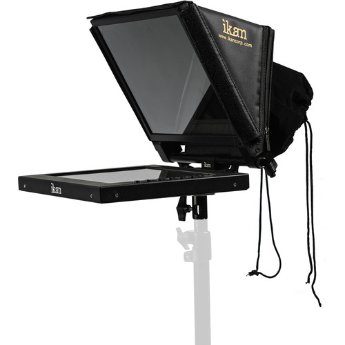"""ikan PT1200-LS 12"""" Portable Light Stand Teleprompter"""