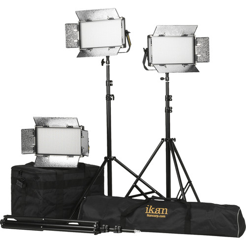 ikan Rayden Half x 1 Bi-Color 3-Point Panel LED Light Kit