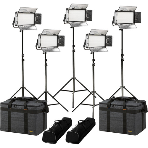 ikan Rayden RB5 Bi-Color 5-Light LED Kit with Stands and Bags