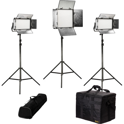 ikan Rayden Bi-Color 3-Point LED Light Kit with 1 x RB10 and 2 x RB5