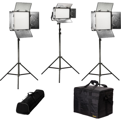 ikan Rayden Bi-Color 3-Light LED Kit with Stands and Bags