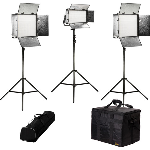 ikan Rayden Bi-Color 3-Point LED Light Kit with 2 x RB10 and 1 x RB5
