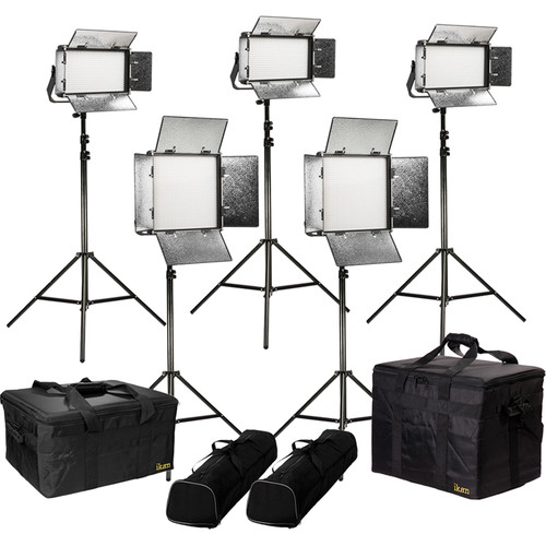 ikan Rayden Bi-Color 5-Point LED Light Kit with 2 x RB10 and 3 x RB5