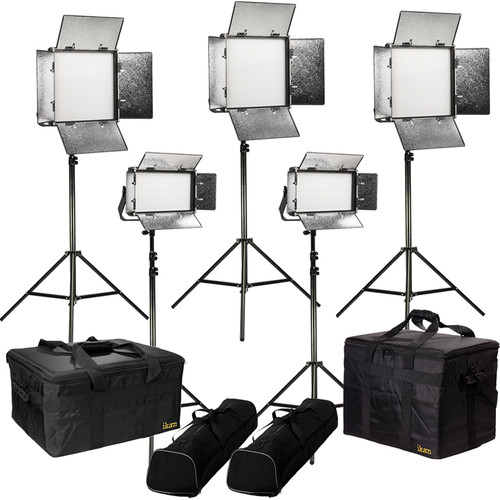 ikan Rayden Bi-Color 5-Point LED Light Kit with 3x RB10 and 2x RB5