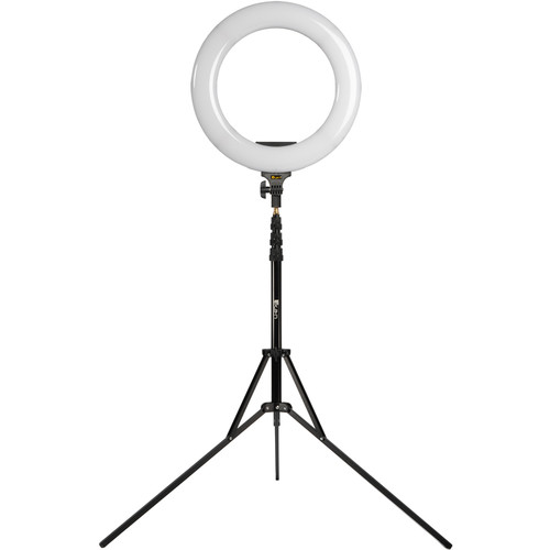 "ikan Oryon Bi-Color LED Ring Light with Stand and Makeup Mirror Kit (18"")"