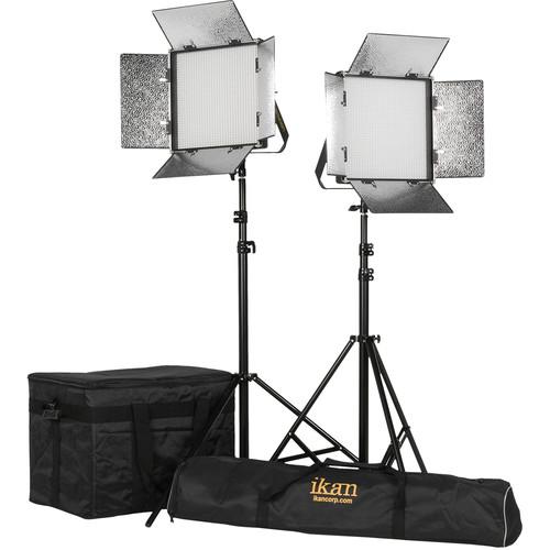 ikan Rayden 1x1 Daylight 5600 2-Point LED Light Kit