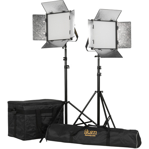 ikan Rayden 1x1 Daylight 5600 2-Point LED Light Kit
