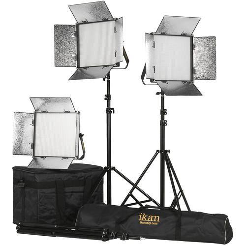 ikan Rayden 1x1 Daylight 5600 3-Point LED Light Kit