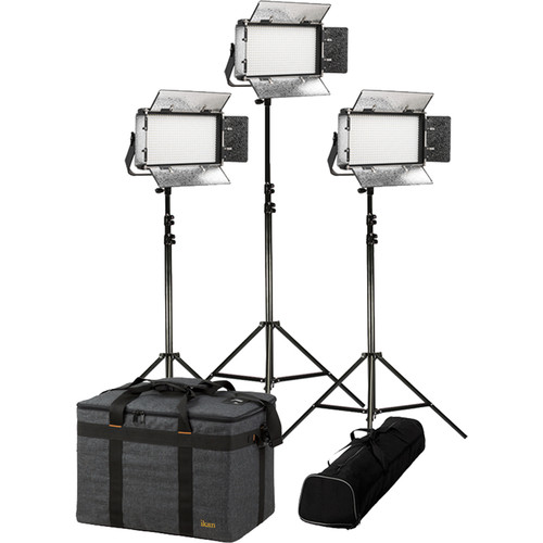 ikan Rayden Half x1 Daylight 5600 3-Point LED Light Kit