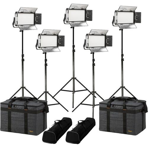 ikan Rayden Daylight 5-Point LED Light Kit with 5x RW5