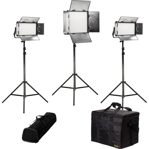 ikan Rayden Daylight 3-Point LED Light Kit with 1x RW10 and 2x RW5