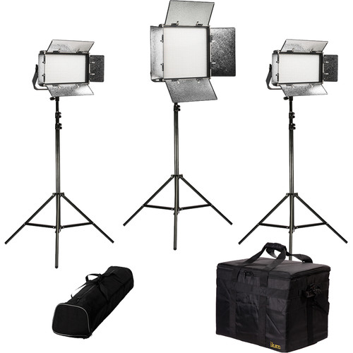 ikan Rayden Daylight 3-Point LED Light Kit with 2 x RW5 and 1 x RW10