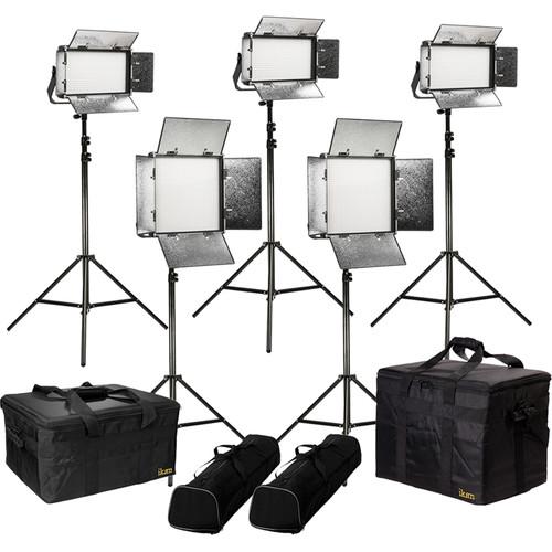 ikan Rayden Daylight 5-Point LED Light Kit with 2 x RW10 and 3 x RW5
