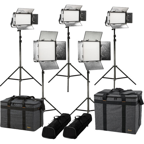 ikan Rayden Daylight 5-Point LED Light Kit with 3 x RW5 and 2 x RW10