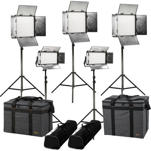 ikan Rayden Daylight 5-Point LED Light Kit with 3 x RW10 and 2 x RW5